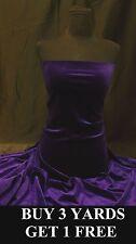 Heavy Purple Velvet Velour Lycra Spandex 4 Way Stretch dress fabric material
