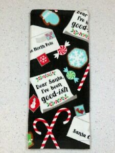 "Kitchen Hand Towel ""Dear Santa I've been good-ish"" Dish Towel 27"" X 16'"