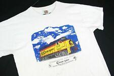 Vintage 90s Chesapeake and Ohio Train Railroad T Shirt Mens L White Distressed