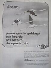 1/1982 PUB SAGEM SYSTEME INERTIEL ETNA ULISS FLAMAND ROSE PINK FLAMINGO AD