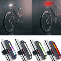USB Rechargeable Bike LED Tail Light Bicycle Safety Cycling Warning Rear Lamp KK