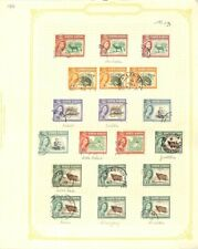 [OP5842] North Borneo lot of stamps on 12 pages