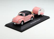 Cararama 1/43 Scale Volkswagen Beetle with Teardrop Trailer Diecast Model Car