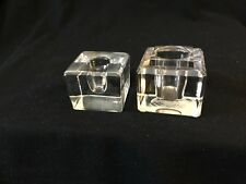 Ink Wells Clear Glass Lot of 2