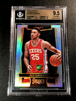 BEN SIMMONS 2016 SELECT #60 PRIZM SILVER REFRACTOR ROOKIE RC BGS 9.5 10 76ERS