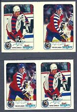 1992-93 Kraft Cheese NHL All-Stars Proof Gutter Pair Lemieux,Linden+ Issued Pair