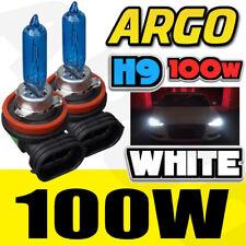 2 X H9 100W HIGH/MAIN BEAM SUPER WHITE HID XENON HALOGEN CAR BULBS