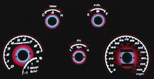 Red Glow 1990-1994 Mitsubishi Eclipse Turbo Gauges Face Overlay New
