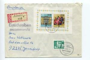 6674) DDR 1986 Einschreiben Reg, Cover Leipzig Fair S/S