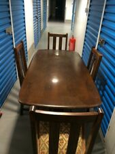 Vintage Ercol Dark Elm Dining Table And 4 Chairs