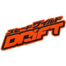 Drift Power JDM stickers decals racing car drift emblems turbo steering wheel