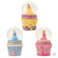 Disney Store Japan 25th Anniversary Princess SnowDome Set Cinderella Aurora Bell