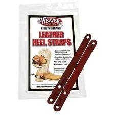 WEAVER HEEL STRAPS, BURGUNDY LATIGO LEATHER, CLIP STRIP 30-1005