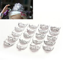 20 Pcs Fashion Crowns for Barbie Headwear Jewelry Accessories for Doll Mix KZ