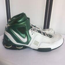 ae6cd0cef2ac 2006 NIKE SHOX ELITE Mens Size 18 Basketball Shoes 314184-119 Green White