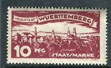 WURTTEMBERG;  1920 early Ulm Official issue Mint hinged 10pf. SP-245326
