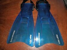 Youth Adjustable U.S. Divers Rip Fin Scuba Snorkel Fins Size 1 to 4 L / XL