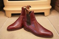 Homme Trickers Brown Tan Cuir Chelsea Bottes Chaussures Taille UK 8