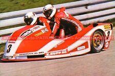 BILAND Rolf WILLIAMS Ken Side Car YAMAHA Carte Postale Moto Motorcycle Postcard