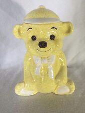 Vintage Treasure Craft Cookie Jar Teddy Bear Wearing a Baseball Cap