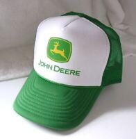 JOHN DEERE Nissun Green and White Hat Cap Mens Size OSFA NEW NWOT