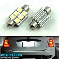 2x MINI COOPER ONE R56 R57 2005+ 6 LED 36MM CANBUS ERROR FREE NUMBER PLATE LIGHT