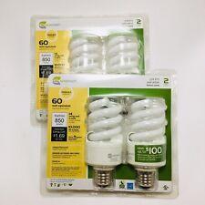EcoSmart 14-Watt (60W Equivalent) Dimmable Household CFL Light Bulb (4-Pack)