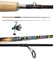 kit spinning canna prestige 1.80m 10/30g + mulinello sword 2000 filo bass trota