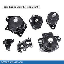 6PCS Engine Motor Trans Mount Set for 03-07 Honda Accord 3.0L Auto V6