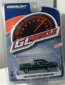 Greenlight GL Muscle 12 Green Machine 1968 '68 Plymouth Road Runner Hemi CHASE