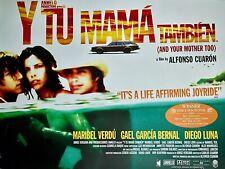 "Y Tu Mama Tambien Original 2001 British Quad Poster 30"" X 40"" Rolled Mint"