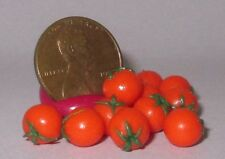Miniature Dollhouse Realistic TWO RED TOMATOES Vegetable Garden Food #0697