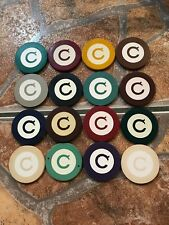 1920'S ANTIQUE INLAID LETTER ROULETTE CASINO CHIPS