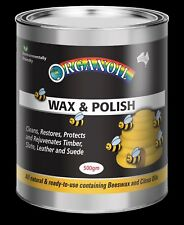 Organoil Natural Wax & Polish Beeswax 500gm bees wax protects interior timbers