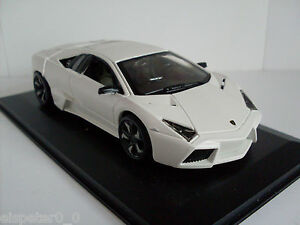 Lamborghini Reventon weiß + Vitrine, Bburago Street Tuners 1:32, Neu, OVP