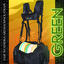 NEW GREEN FADE WEATHERGUARD Backpack Straps 4 Disc Golf Tourney Bag / rainy days