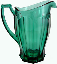 """Vintage Westmoreland Glass Laurel Green Colonial Pattern 8""""t Flat Pitcher As-Is"""