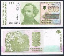 ARGENTINA - BILLETE 500 AUSTRALES 1990  Pick # 328b   S/C  UNC