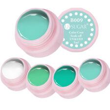 4box Green White Color UV Gel Polish Soak Off Nail Art Gel Polish Decoration 5ml