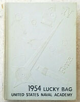 1954 Lucky Bag, United Stated Naval Academy Annopolis Maryland Yearbook RARE!