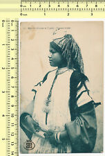 020 1910s Morocco Arab Woman Ethnic Portrait vintage old photo postcard rppc pc