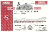 NLT Corporation > 1974 Nashville, TN old stock certificate share