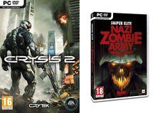 crysis 2  &  sniper elite nazi  zombie army    NEW&SEALED