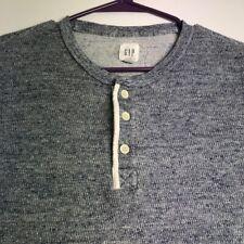 Gap Men's Long Sleeve Henley Thermal Sweater Medium M Multicolor Casual Fall