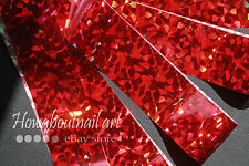 """Ruby crushed""  Transfer Nail Foil - 1 Meter"