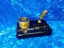 Antique Sengbusch Black Glass Inkwell Pen Holder Desk Set