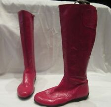 BODEN PINK PATENT LEATHER KNEE HIGH ZIP UP BOOTS UK 6 EU 39 (1808)