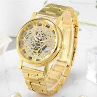 NEW Quartz Luxury Men'S Skeleton Stainless Steel Hollow Watch Watch Well