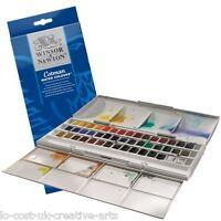 WINSOR & NEWTON COTMAN ARTIST 45 HALF PAN WATERCOLOUR STUDIO BOX SET- RRP £74.99