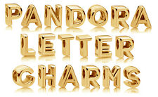 Genuine PANDORA Alphabet Letter Charm 14K Gold Vermeil 797455 Plain Font Charms
